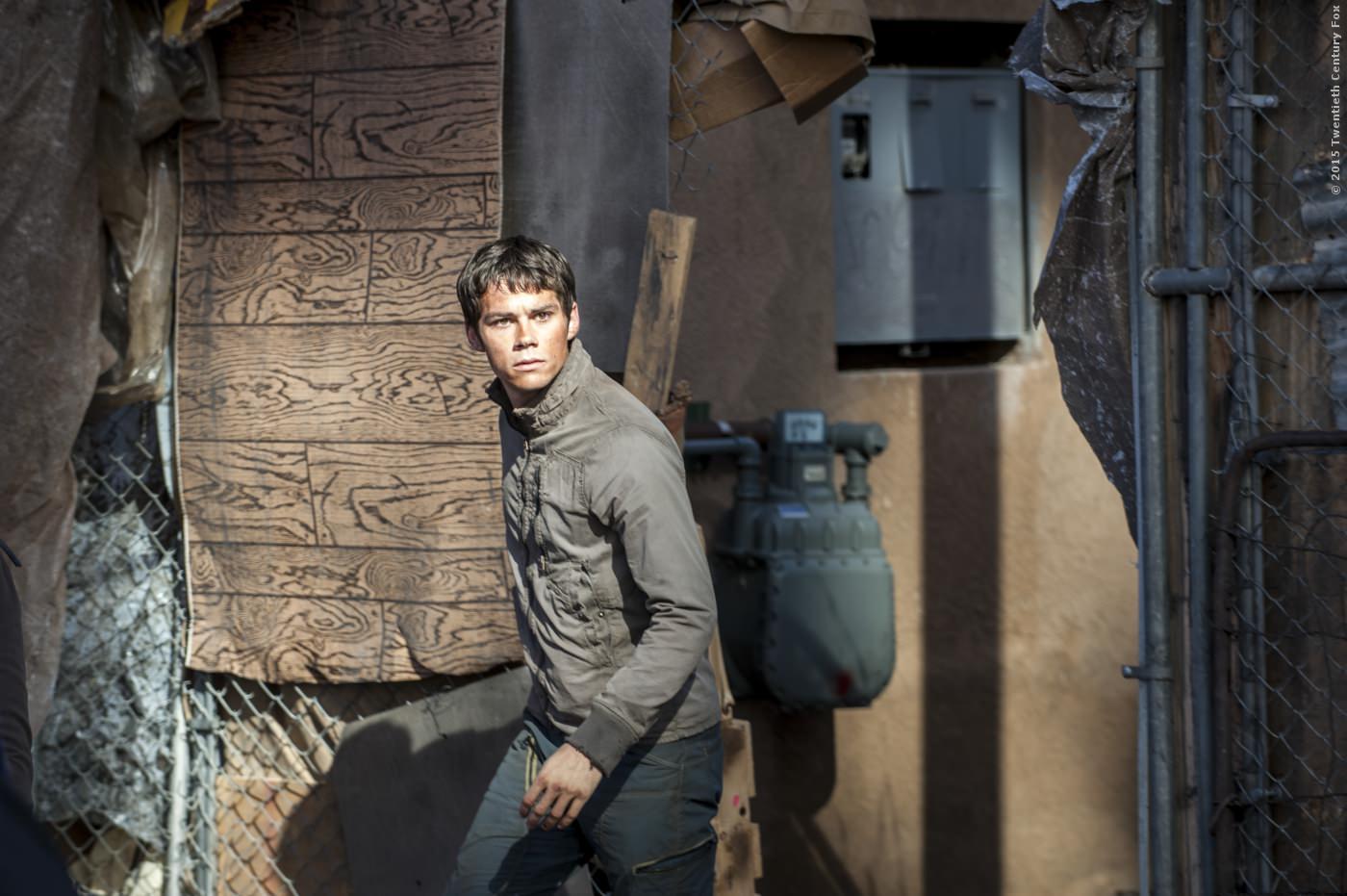 Dylan OBrien als Thomas in Maze Runner. Bei einem Unfall am Set der Filmserie wurde er schwer verletzt.