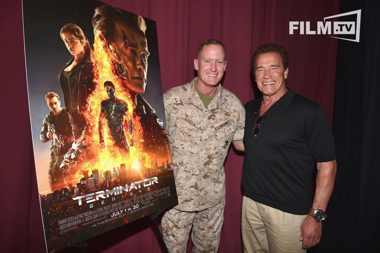 Bei den Marines hat Arnold Schwarzenegger seine treuesten Fans.