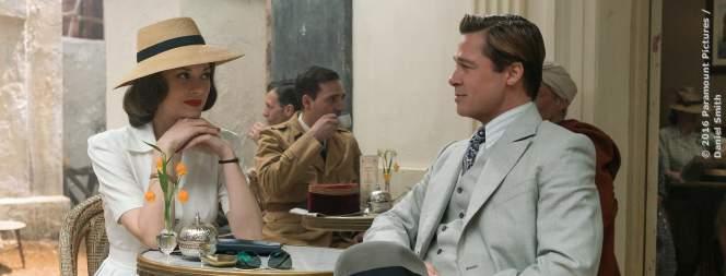 Marion Cotillard und Brad Pitt in Allied - Vertraute Fremde