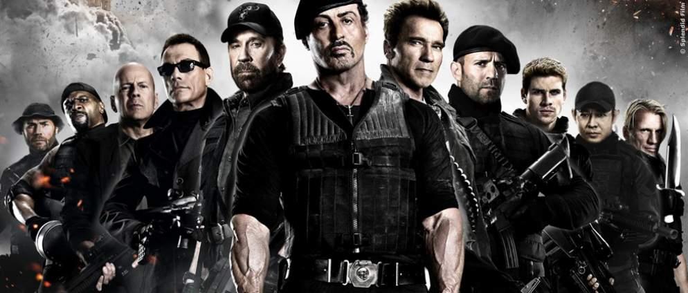 """""""Expendables 4""""-Bild zeigt die zwei wichtigsten Figuren der Fortsetzung"""