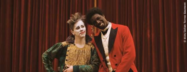 Clown George Footit (James Thierree) und Chocolat (Omar Sy)