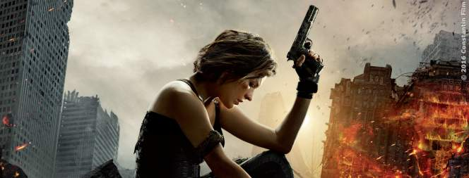 Milla Jovovich als Alice auf dem Resident Evil 6 - The Final Chapter Plakat