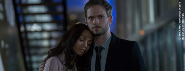 Rosemary (Zoe Saldana) und Guy Woodhouse (Patrick J. Adams).