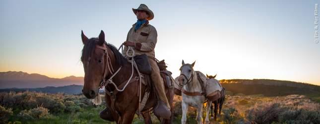 Jonny Fitzsimons reitet auf seinem Pferd Bam-Bam.