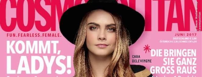 Cara Delevigne auf dem Cover der neuen Cosmopolitan