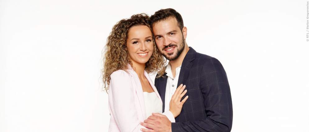 "Yasin Clingir und Samira Clingir vor dem ""Sommerhaus der Stars"""
